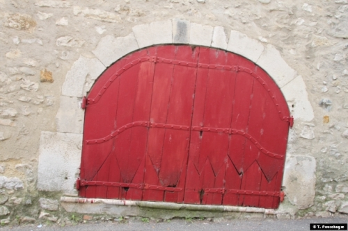 porte, rouge, dents
